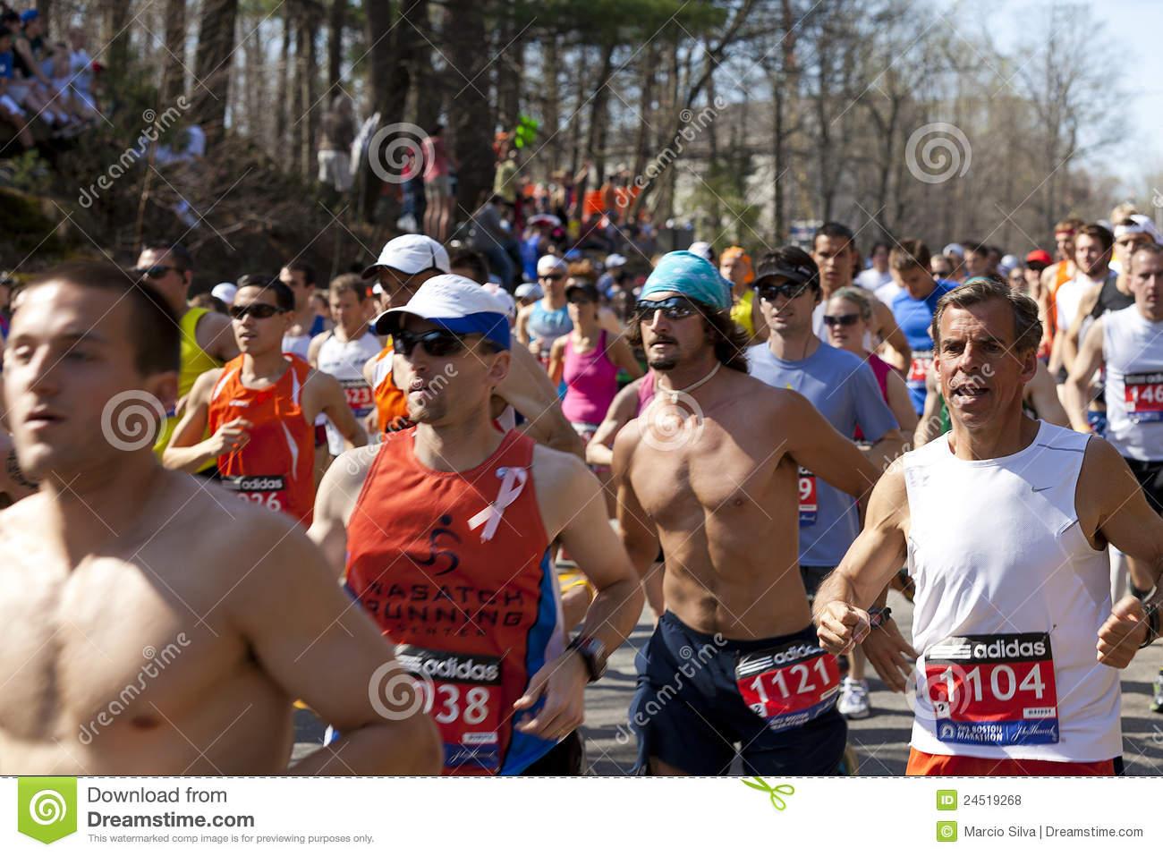 Boston Marathon Editorial Stock Photo   Image  24519268
