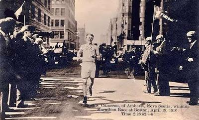 Boston Marathon Finish Line 1910  Author  Unknown  Caption  Fred S