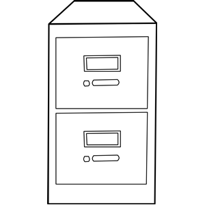 Cabinet Clipart Cliparts Of Classeur Vertical   Vertical File Cabinet