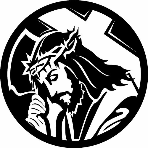 Christ Carrying Cross Clipart By Www Vectorportal   Give Us This Day