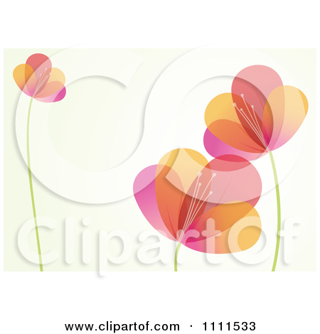 Clipart Colorful Flower Background With Copyspace 1   Royalty Free