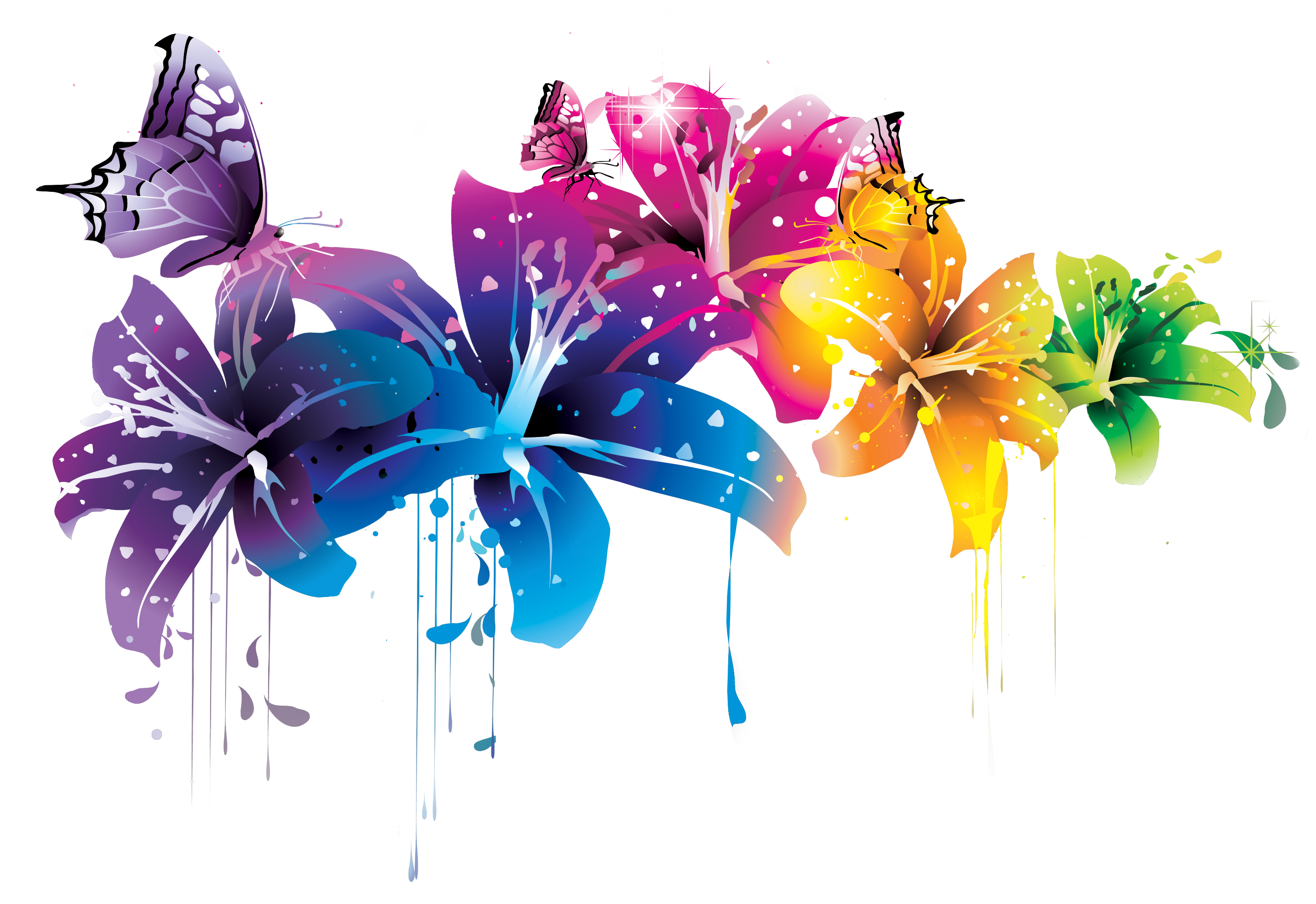 Colorful Flower Vector Clipart Png By Briellefantasy On Deviantart