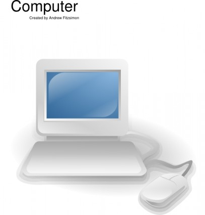 Computer Clip Art Free Vector In Open Office Drawing Svg    Svg