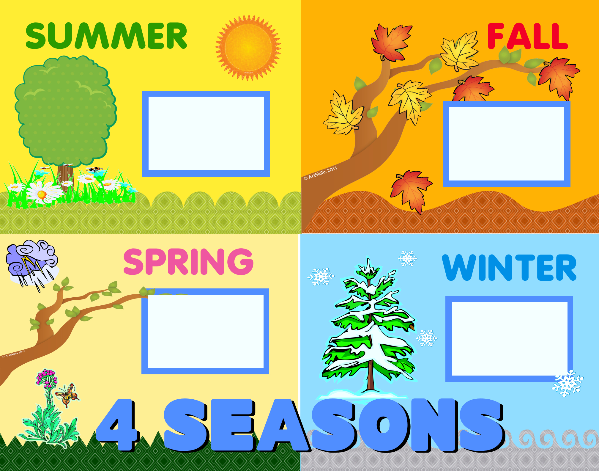 Calendar Poster For Classroom : Create a seasons poster school educational