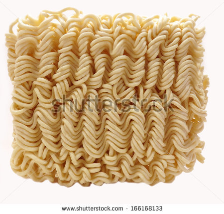Dried Instant Ramen Or Soto Noodles On White   Stock Photo