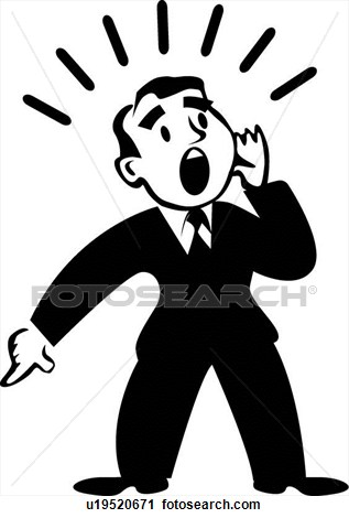 Image Person Shouting Clipart