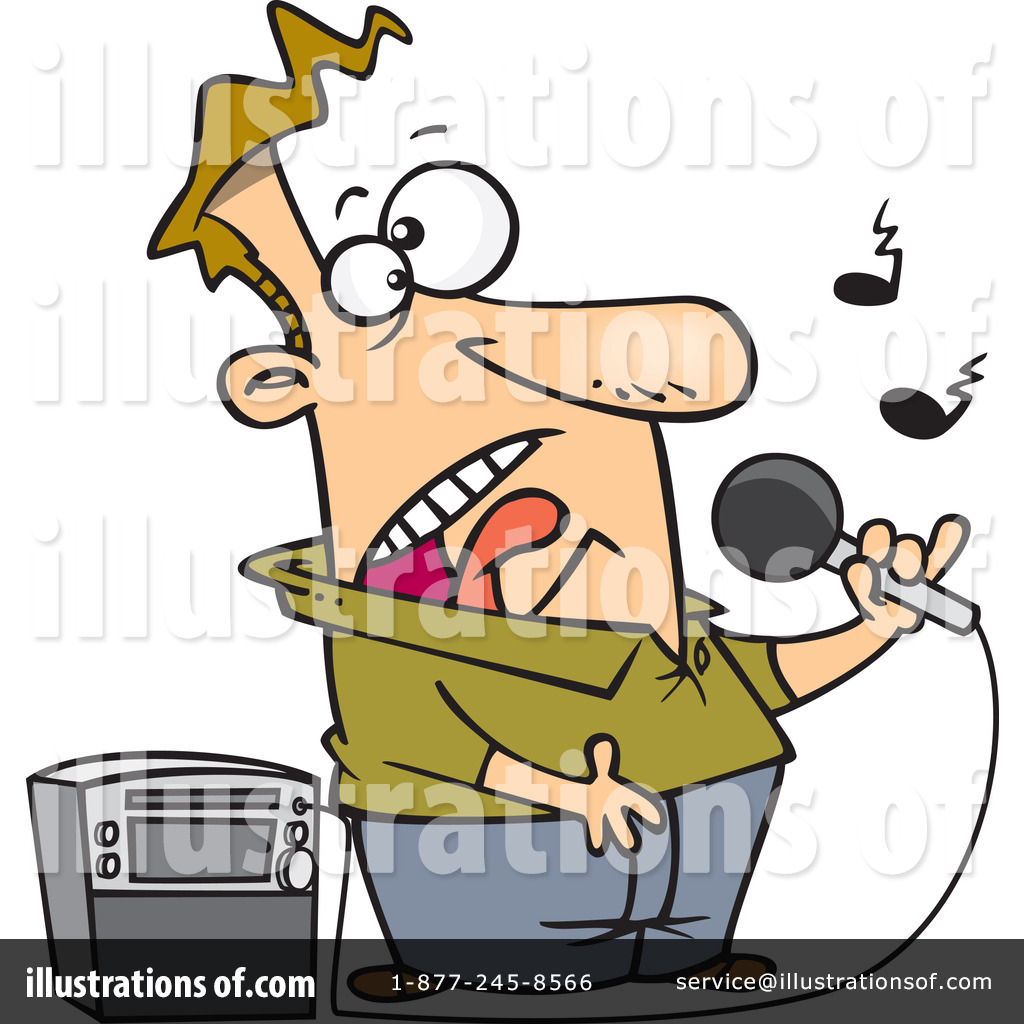 Karaoke Clipart  1067552 By Ron Leishman   Royalty Free  Rf  Stock