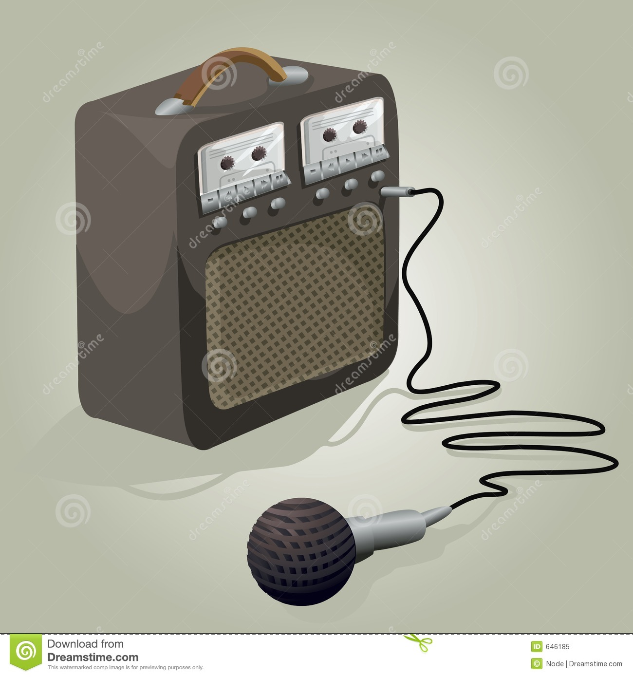 Karaoke Machine Illustration With Clipping Path