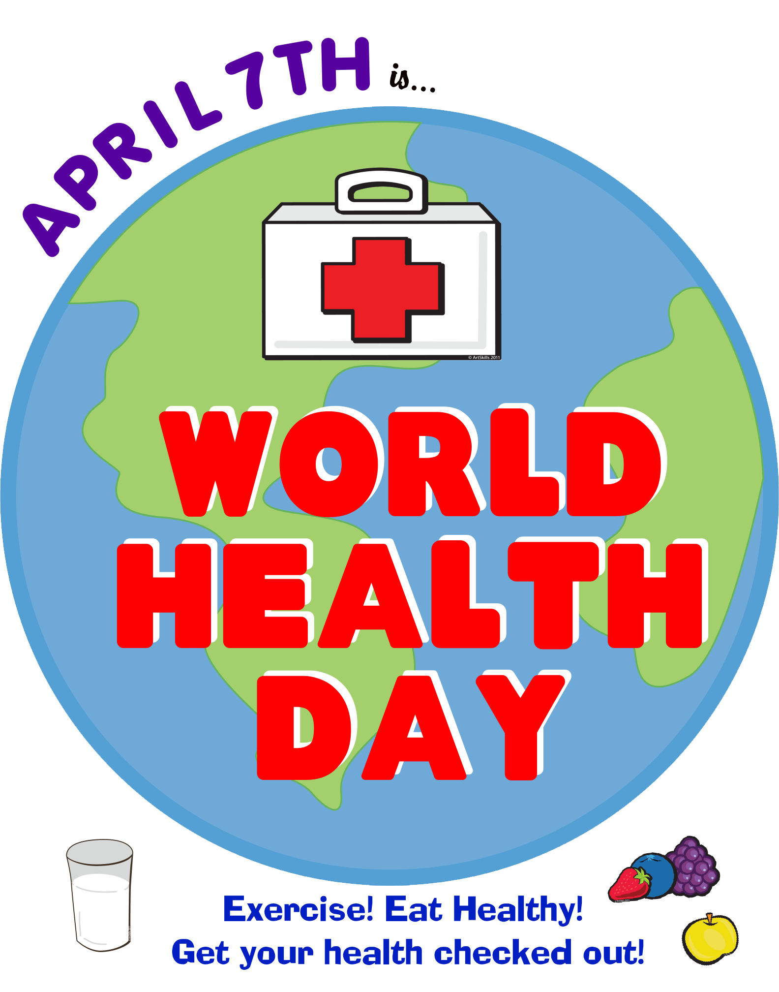 make a cool poster about world health day fun world health