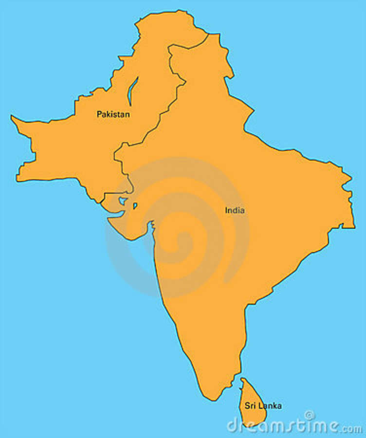Map India Pakistan Sri Lanka 16826883 Jpg