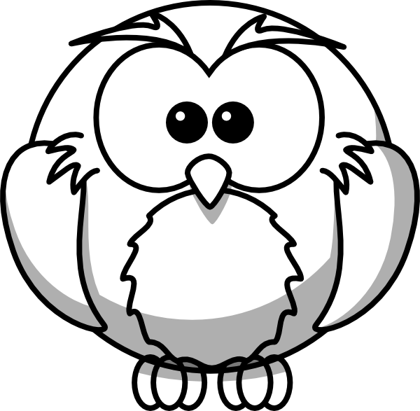 Owl Outline Clip Art At Clker Com   Vector Clip Art Online Royalty