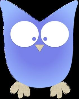 Simple Colorful Owl Clipart   Owls   Pinterest