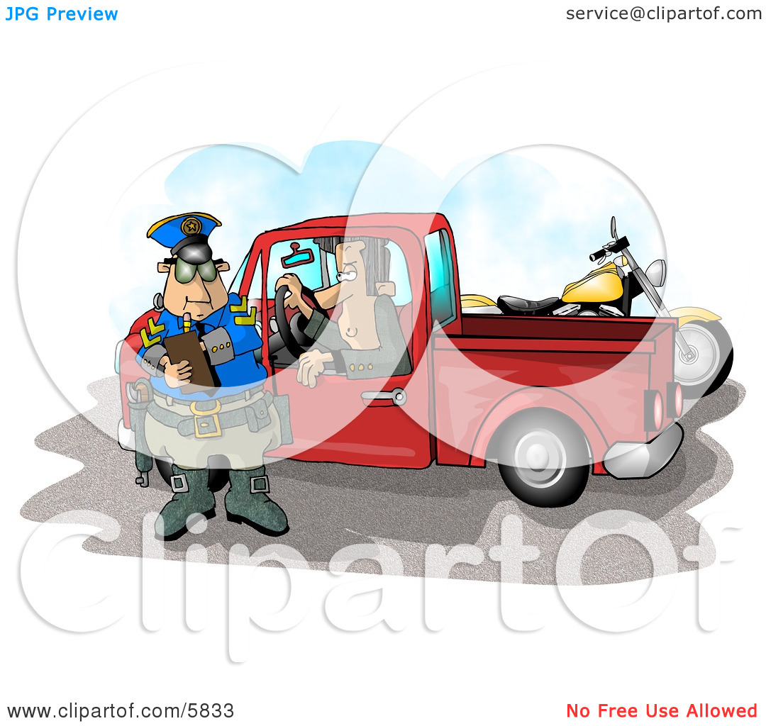 Watching A Cop Writing A Speeding Ticket Clipart Illustration By Djart