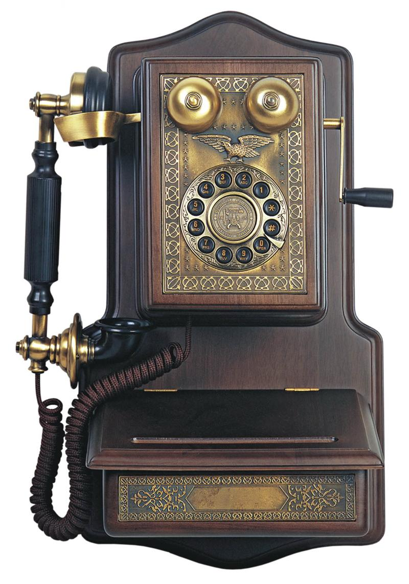 1907 Wooden Wall Telephone Antique Wall Telephones Wooden