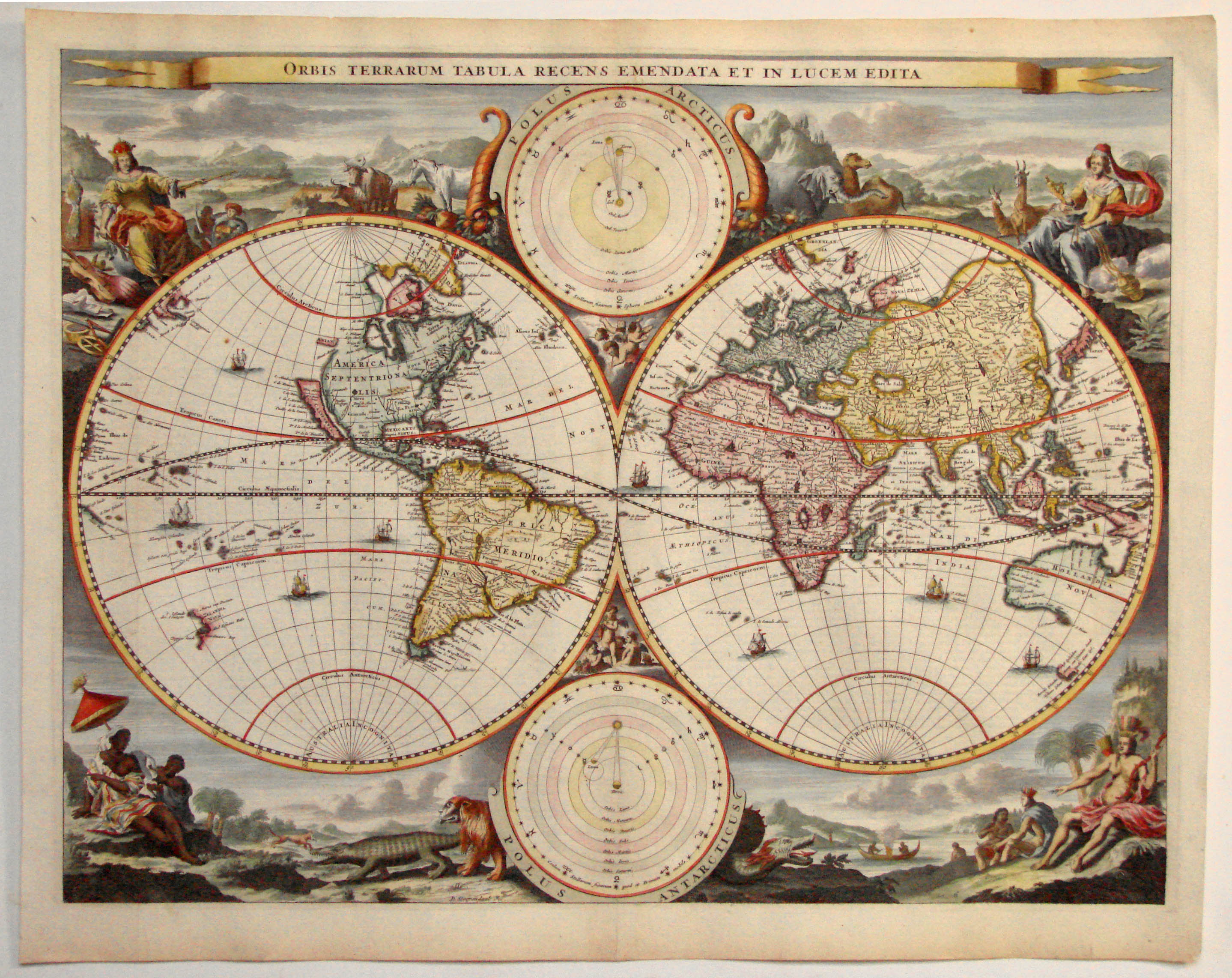 Antique Maps Leen Helmink Antique Map Of World By Stoopendaal