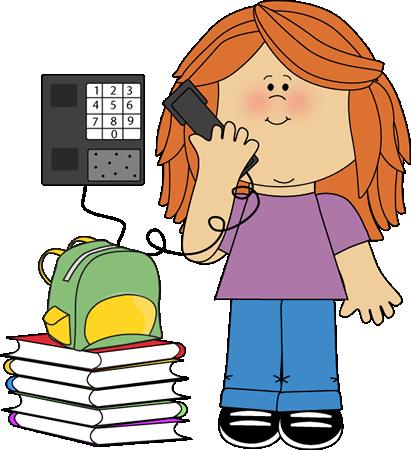 Girl On Phone Clipart - Clipart Kid