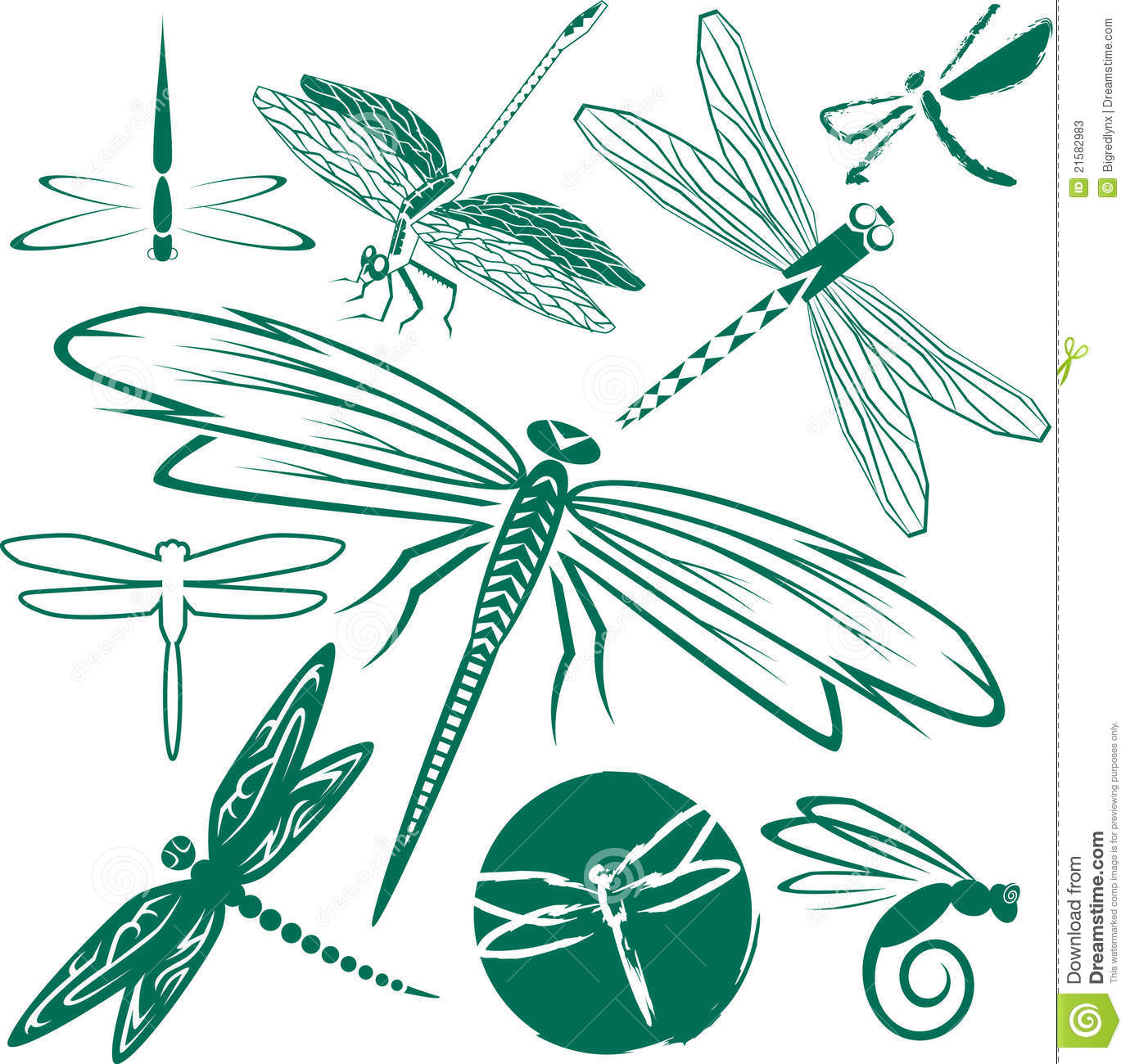 Clip Art Collection Of Various Dragonflies