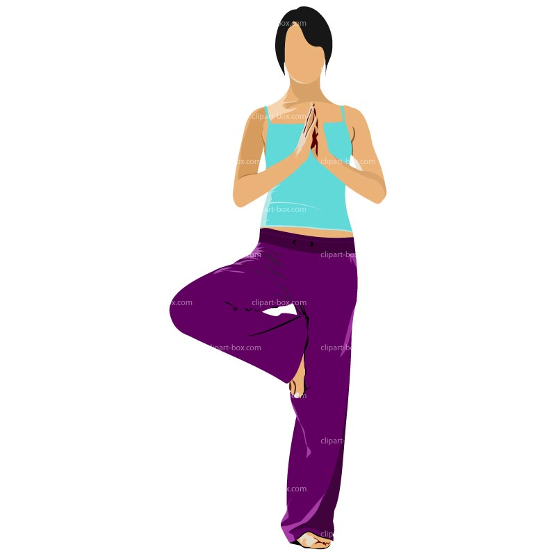 Clipart Yoga Pose   Royalty Free Vector Design