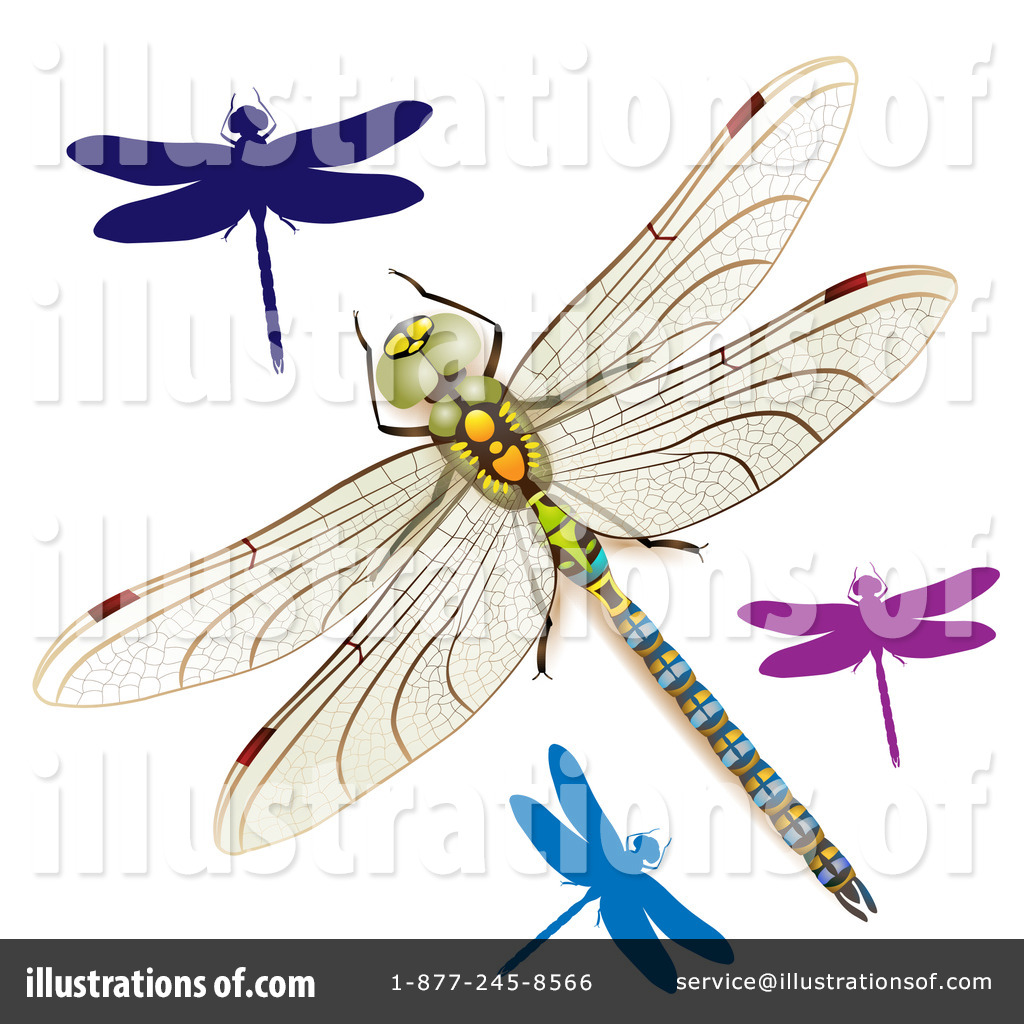 Dragonflies Clipart Illustration By Merlinul   Stock Sample  1099379