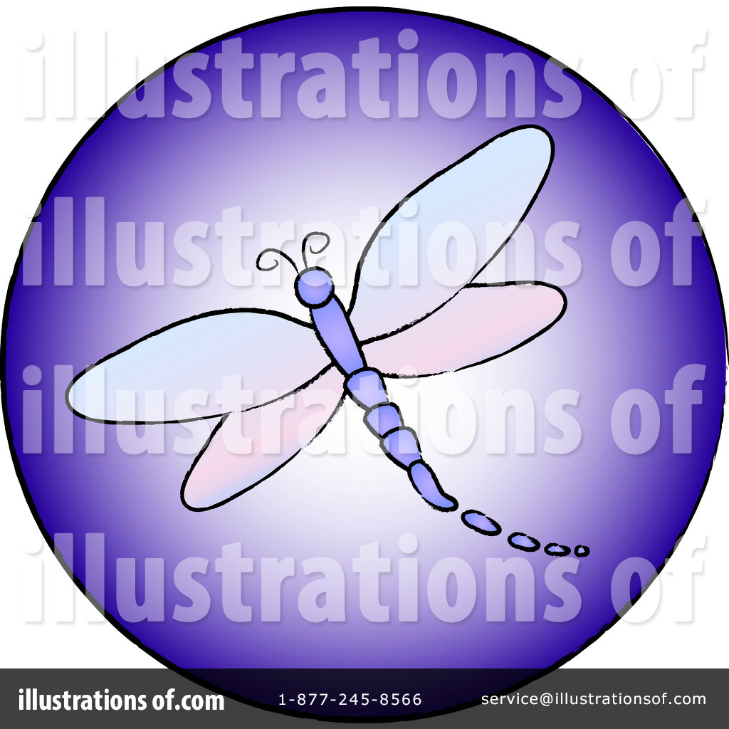 Dragonfly Clipart Illustration By Pams Clipart   Stock Sample  94262