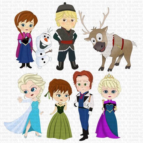 Frozen Inspiration Character Clipart Character Clips Frozen Clipart