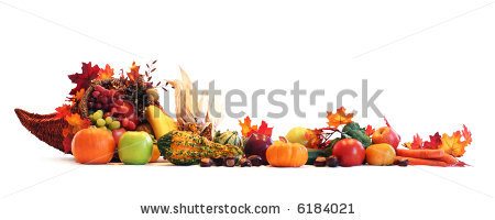 Fruits And Vegetables Spread Out To Create A Border Stock Photo