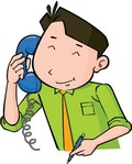 Man Answering The Phone Clip Art Vector Free Vector Images   Vector