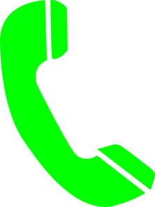 Answering Phone... Green Juice Clipart