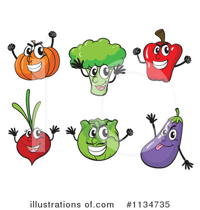 Royalty Free Rf Veggie Clipart Illustration By Colematt Stock