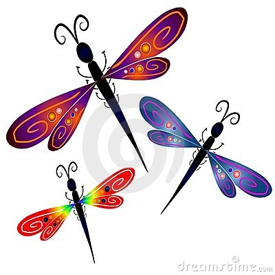 Royalty Free Stock Photo  Abstract Dragonfly Clip Art