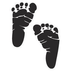 Clip Art Baby Footprints Clipart baby footprints black and white clipart kid svg on pinterest silhouettes free printable stencils street