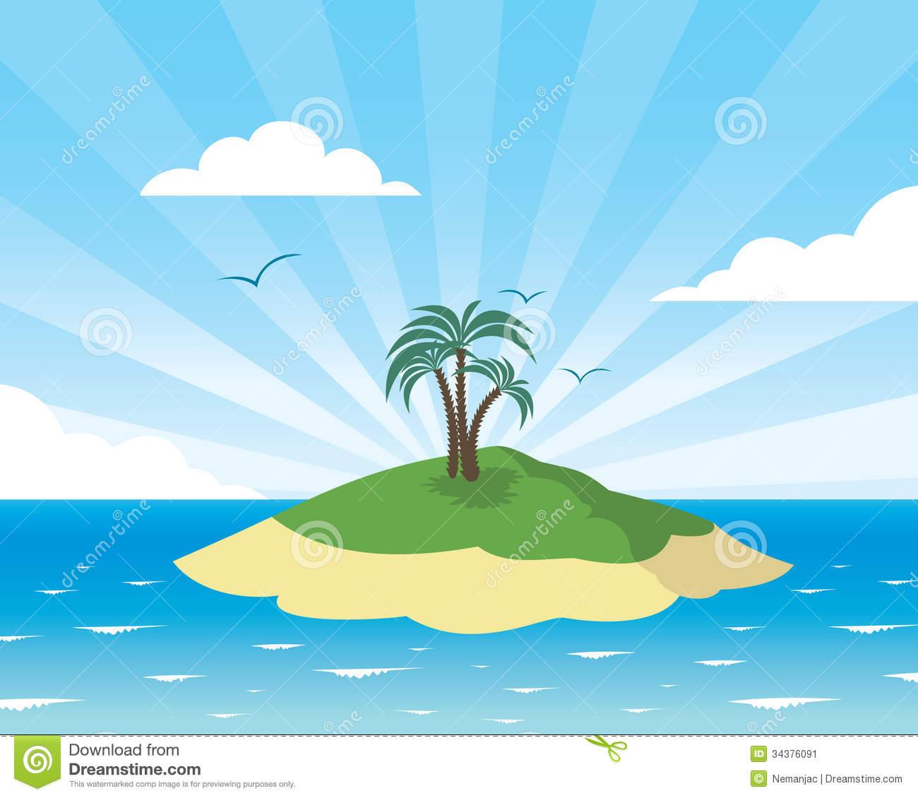 Image Gallery island paradise cartoon