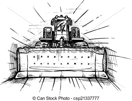 Bulldozer Clipart Black And White Vector Black And White