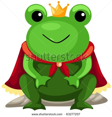 Cute Frog Prince Clipart Illustration Of Isolated Frog