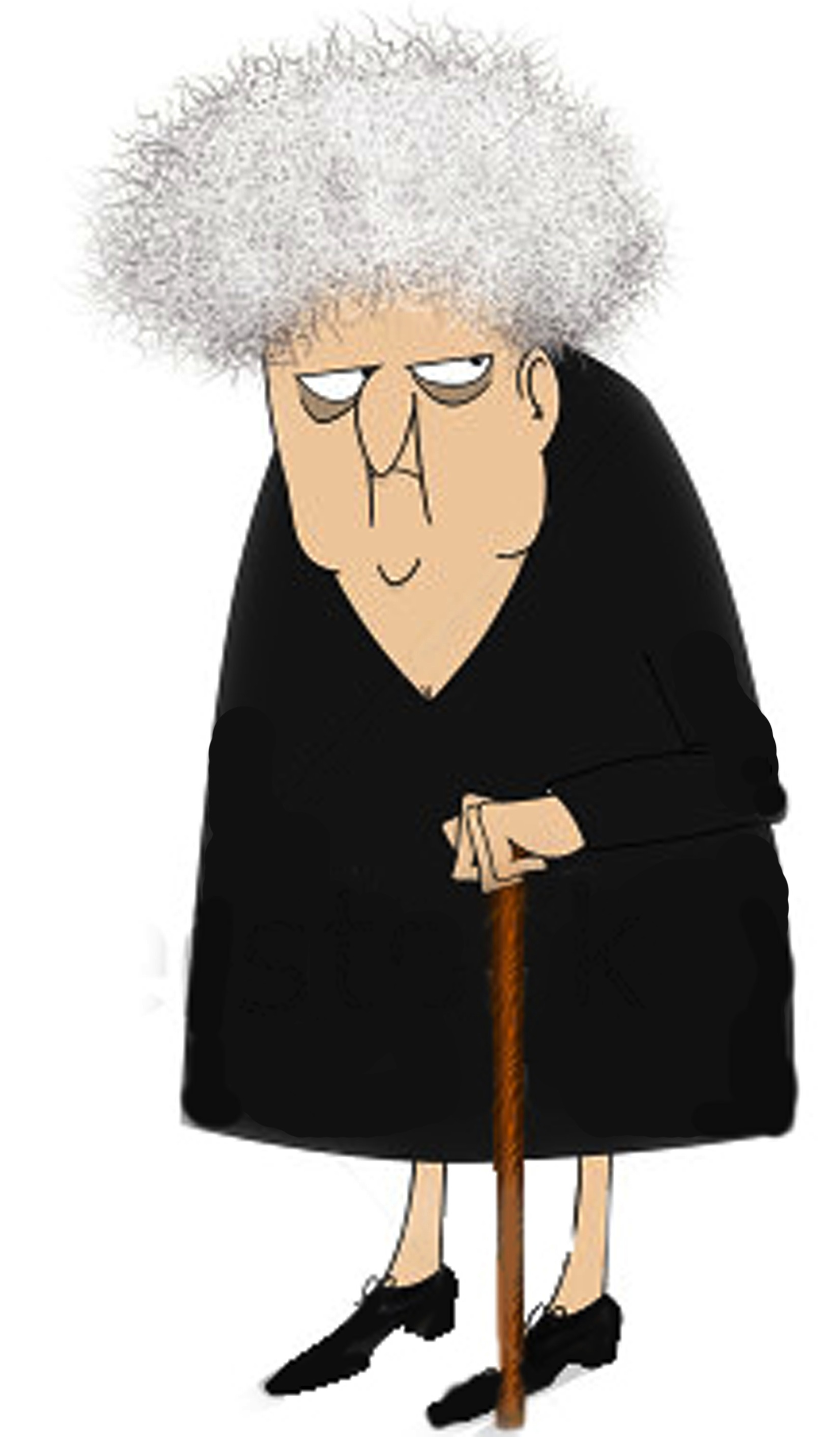 Cranky Old Lady Clipart - Clipart Kid