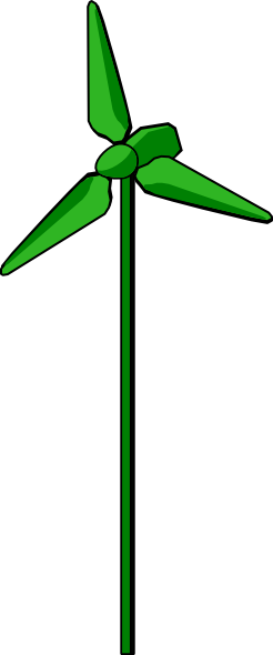 Energy Positive Wind Turbine Green Clip Art At Clker Com   Vector Clip