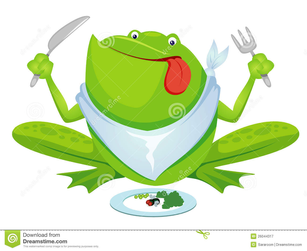 Frog Eating Clipart Green Frog Eating Royalty Free
