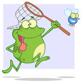 Frog Eating Clipart Tongue Tied Frog Chasing Fly
