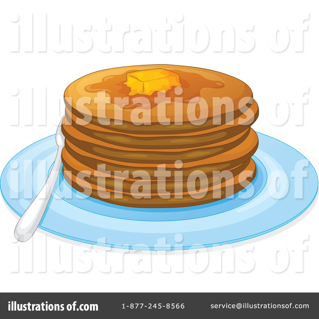 Pancake Clipart  1124187   Illustration By Colematt