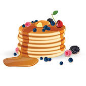 Pancakes Clipart Cake Ideas And Designs