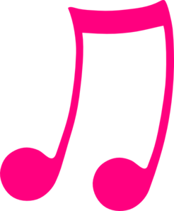 Pink Music Note Clipart - Clipart Kid