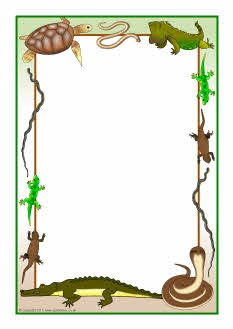 Reptiles Themed A4 Page Borders   Clip Art Graphics Templates