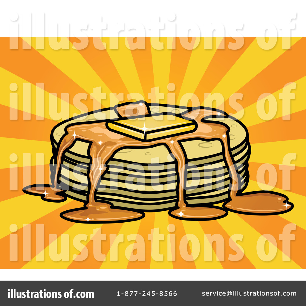 Royalty Free  Rf  Pancakes Clipart Illustration  45751 By R Formidable