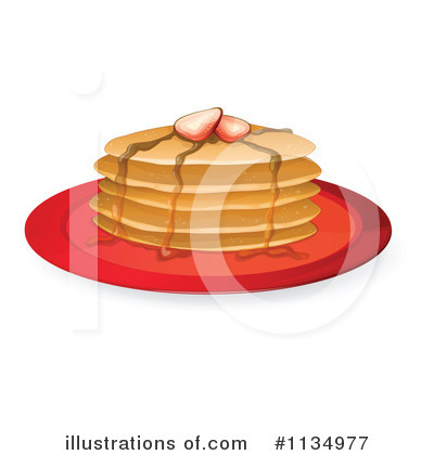Royalty Free  Rf  Pancakes Clipart Illustration By Colematt   Stock