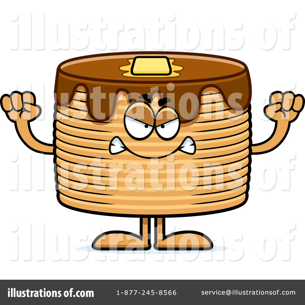 Royalty Free  Rf  Pancakes Clipart Illustration By Cory Thoman   Stock