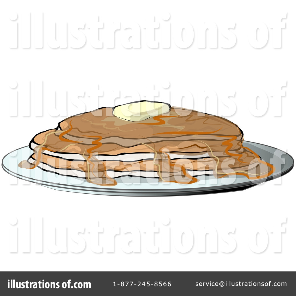 Royalty Free  Rf  Pancakes Clipart Illustration By Dennis Cox   Stock