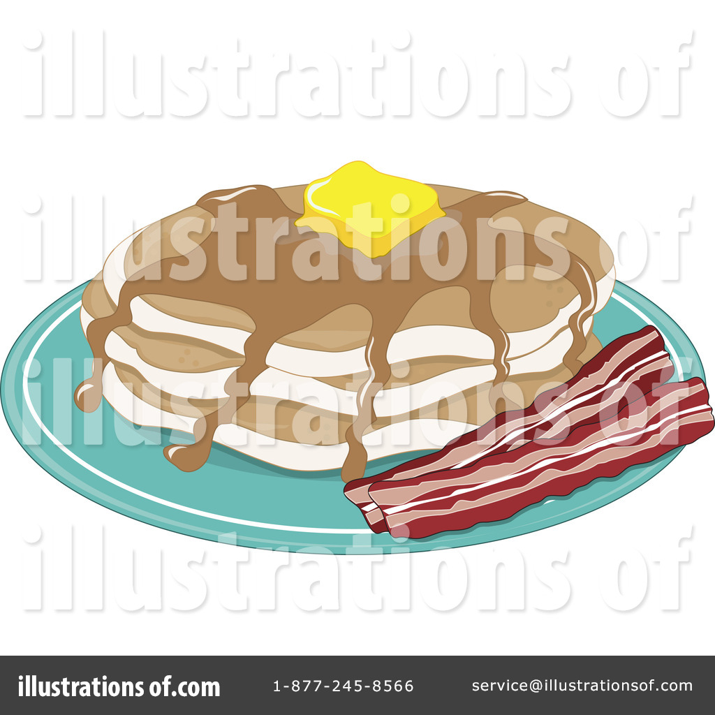 Royalty Free  Rf  Pancakes Clipart Illustration By Maria Bell   Stock
