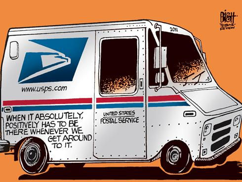 Usps Truck Cartoon Http   Mediagallery Usatoday Com Daily Service