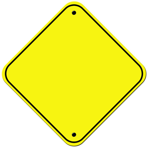 Blank Road Sign Clip Art