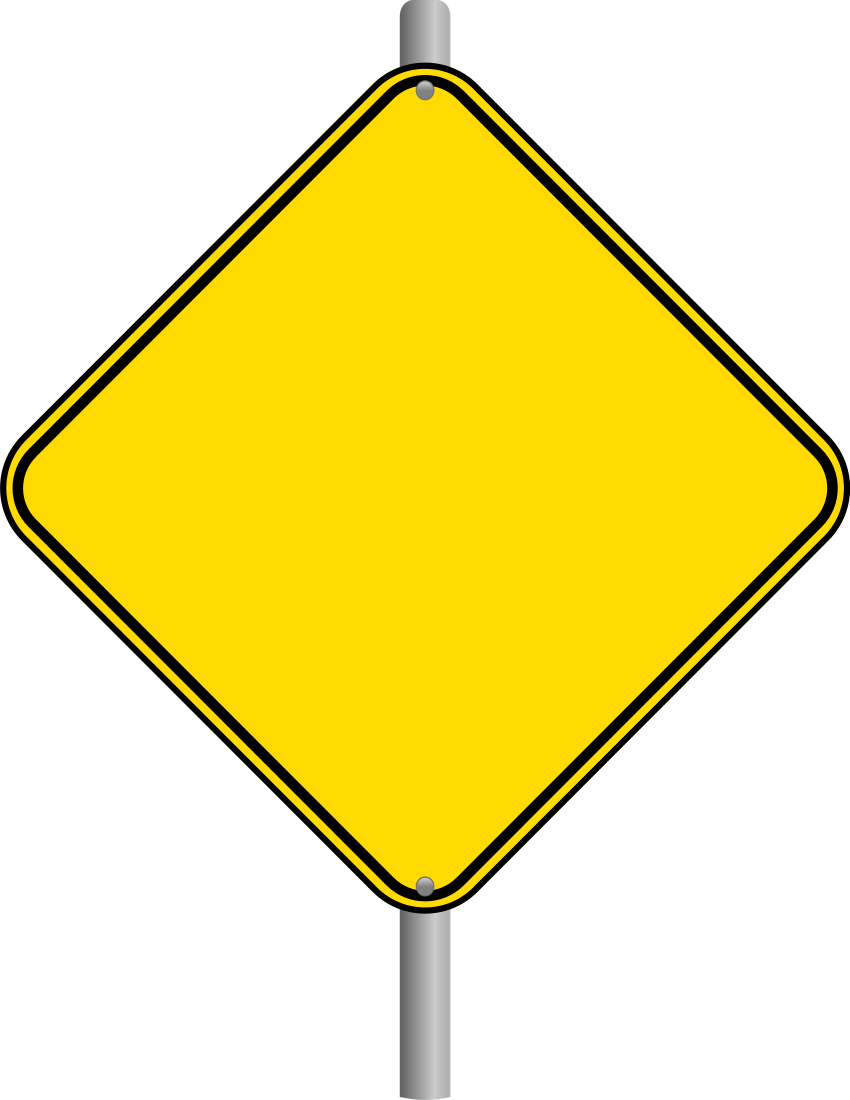 Blank Warning Sign Page    Blanks Road Signs Blank Warning Sign Page